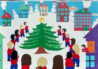christmas around the tree